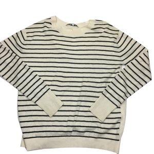 PAM & GELA Black & White L/S Sweater Women's Sz S
